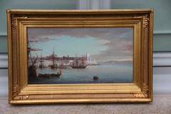 "Antique painting ""Scene in the eastern port"""