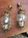 Antique pair empire lanterns
