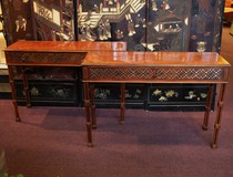 Pair Of Mahogany Consoles