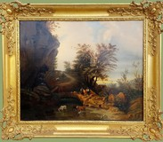 "Antique painting ""Pastoral"""