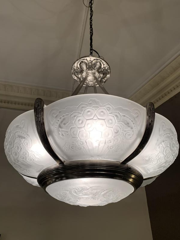 Antique art-deco chandelier