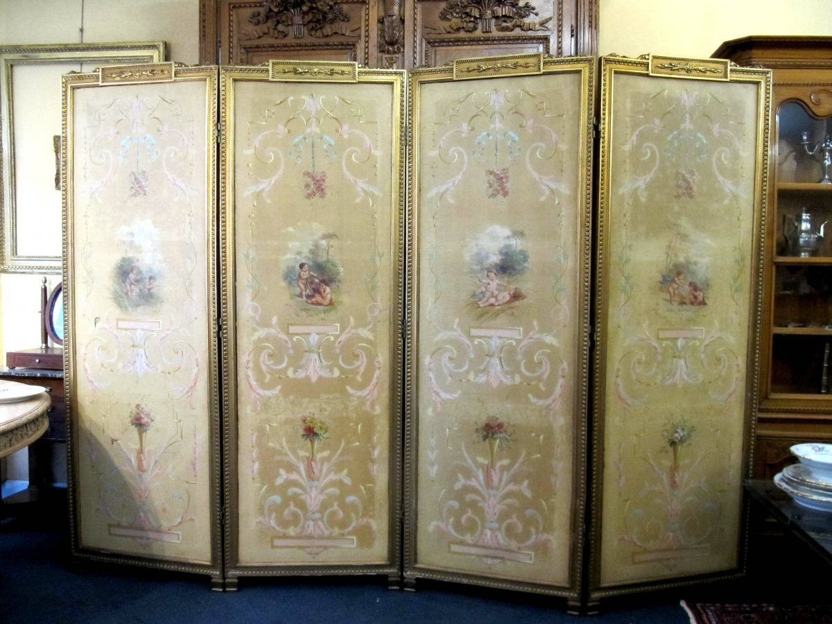 Antique screen