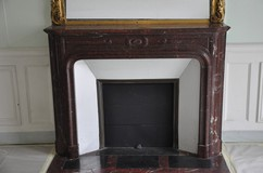Antique Louis XIV rouge griotte fireplace