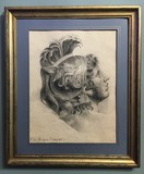 "Antique drawing ""Achilles profile"""