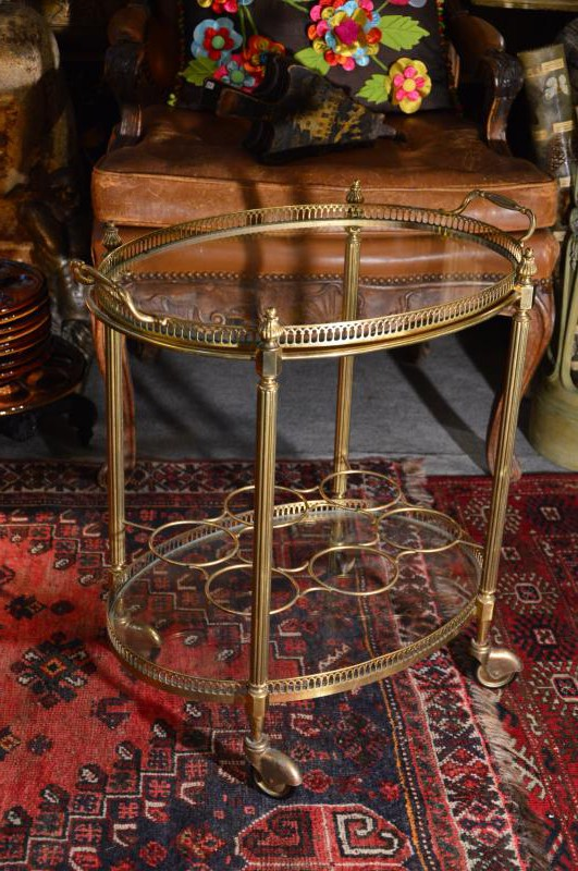 Antique serving table