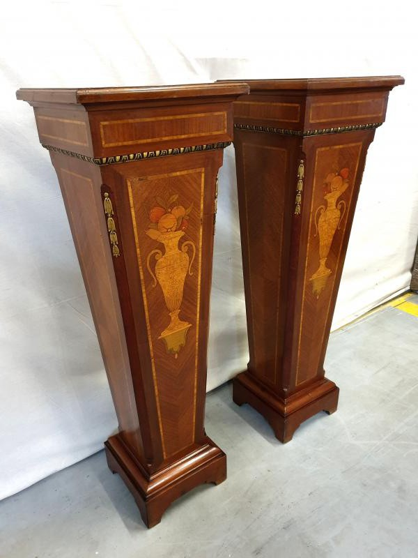 Antique pair Napoleon III pedestal