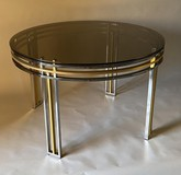 Antique chromed circle table
