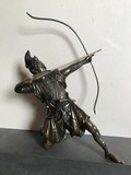Antique sculpture of a Japanese warrior samurai