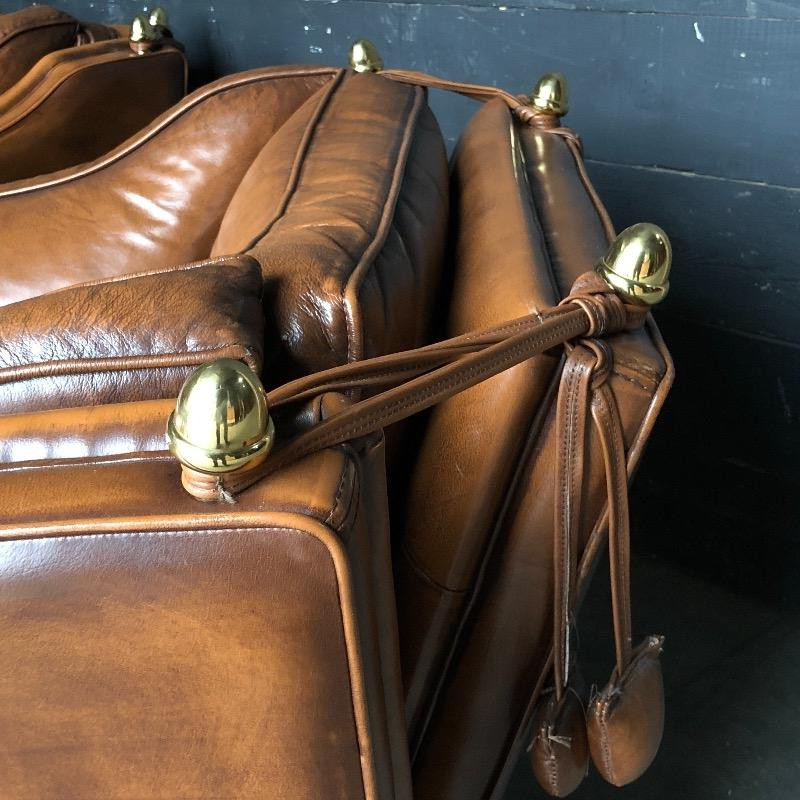 Leather armchairs in english style
