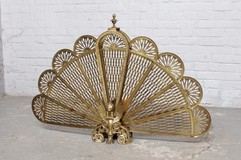 "Antique fireplace screen ""fan"""