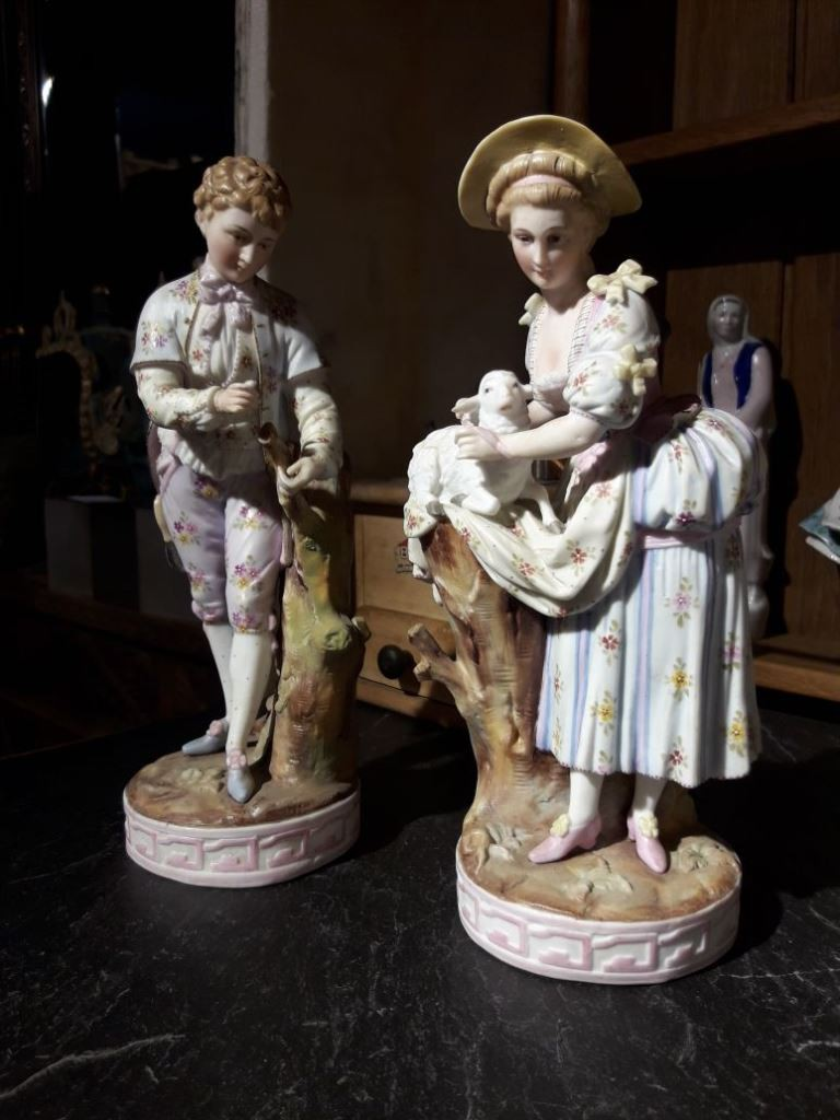 Pair of antique sculptures