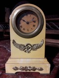Antique marble table clock