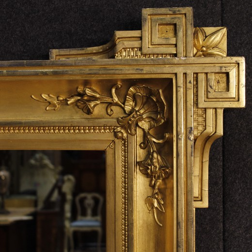 Antique French Gilded Mirror From 19th-century