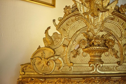 Mirror Wood And Stucco Gilded Leaf Style