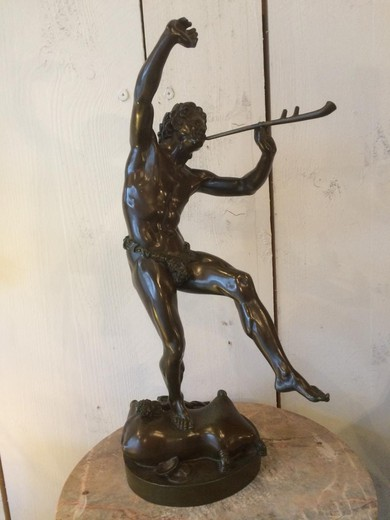 Faun Bronze Signed E.lequesne Foundry Susse