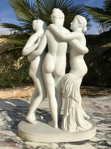 Porcelain Statue - The Three Graces