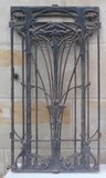Antique art nouveau grill door