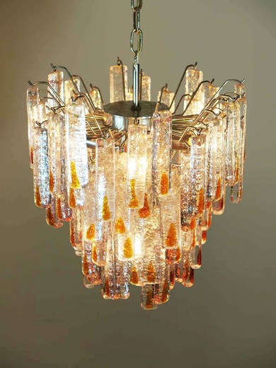 Vintage Murano chandelier in the manner of Mazzega