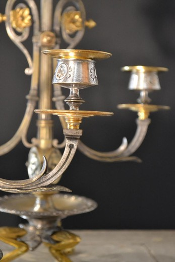 Antique pair candelabras Napoleon III