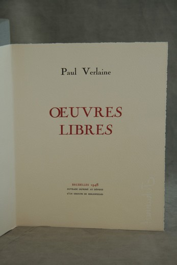 Extraordinary serie of illustrations to Paul Verlain Poems