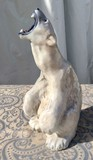 Antique porcelain sculpture of a white bear