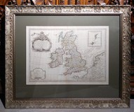 "Antique engraving ""The map of Great Britain and the islands"""