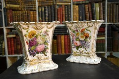 Antique pair vases.