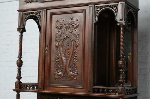 Antique renaissance style pair buffets