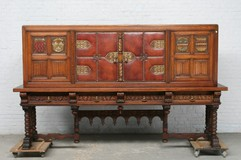 Antique gothic buffet