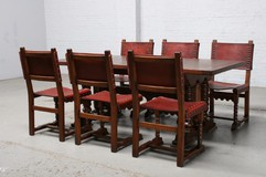 Antique gothic table and chairs