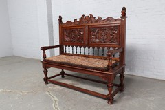 Antique Renaissance style hall bench