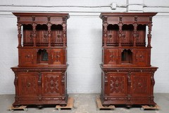 Pair antique renaissance buffets