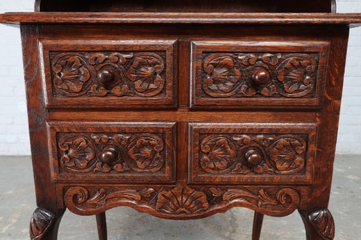 Antique carved wood cabinet