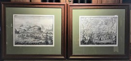 A pair of antique prints
