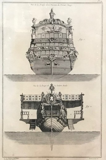 "Antique engraving ""Feed frigate"""