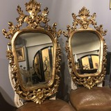 Antique gilt framed mirrors XIXth C.