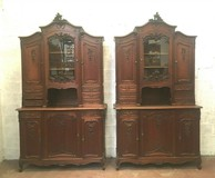 Paired antique cupboards