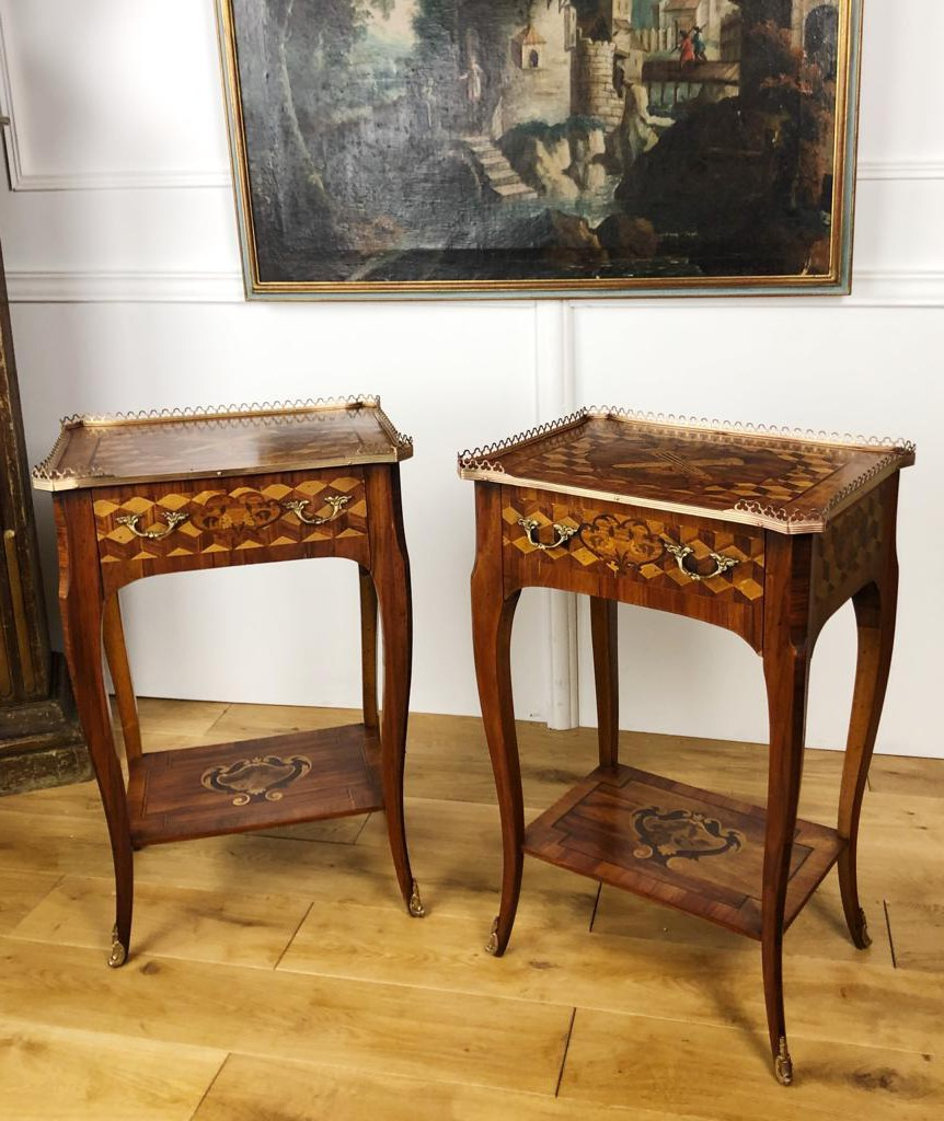 Antique twin tables