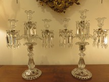 Antique double candlesticks