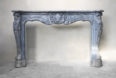 Large antique fireplace
