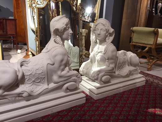 "Paired sculptures ""Sphinxes"""