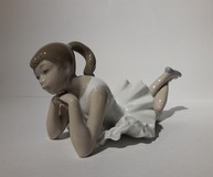 Antique sculpture of a ballet dancer