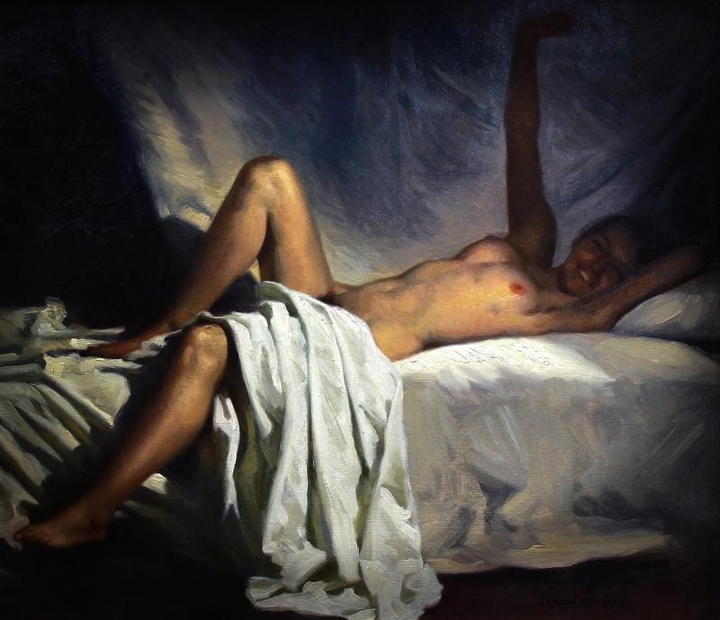 "Antique painting ""Nude"""