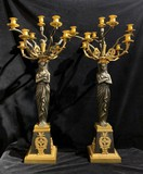 Pair antique Empire candelabras
