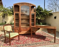 Antique rare cabinet set Art nouveau style