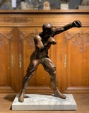 sculpture of a prize fighter