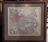 "Antique engraving ""Map of Russia"""