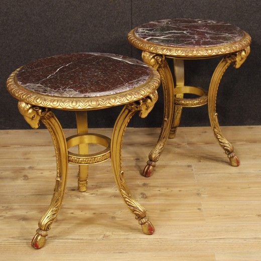 Antique paired tables