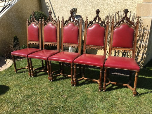 A set of antique chairs