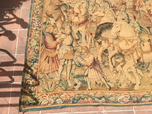 An antique tapestry